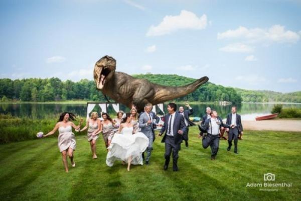 ¿Es esta la mejor foto de boda de todos los tiempos?