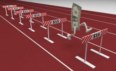 El dólar cerró caliente: se pagó hasta $15,20 después de hora