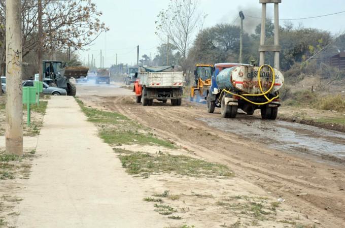 Nuevo cronograma de riego de calles para toda la ciudad