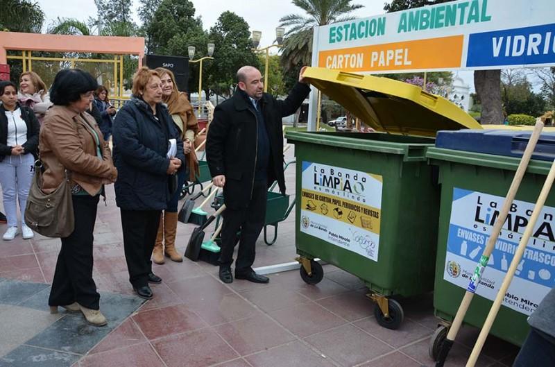 """El intendente Mirolo lanzó la tercera etapa de """"La Banda limpia es más linda"""""""