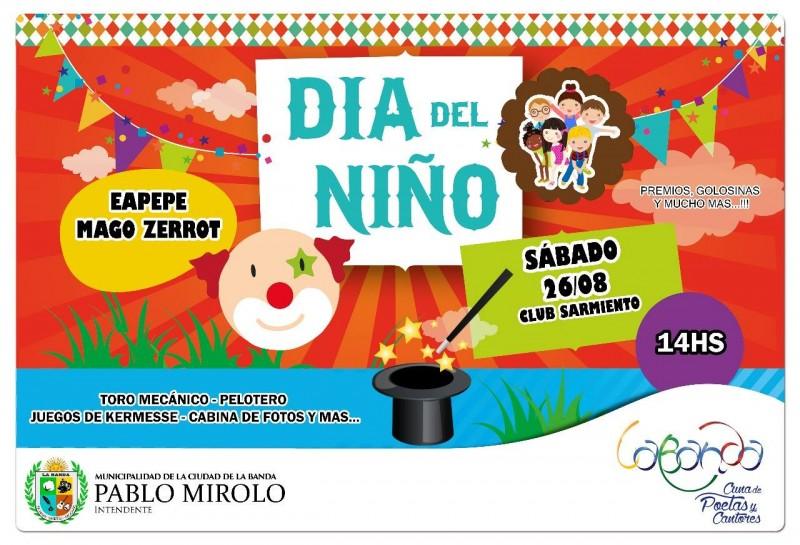 El municipio agasajará este sábado a los niños con juegos, shows y regalos en el Club Sarmiento