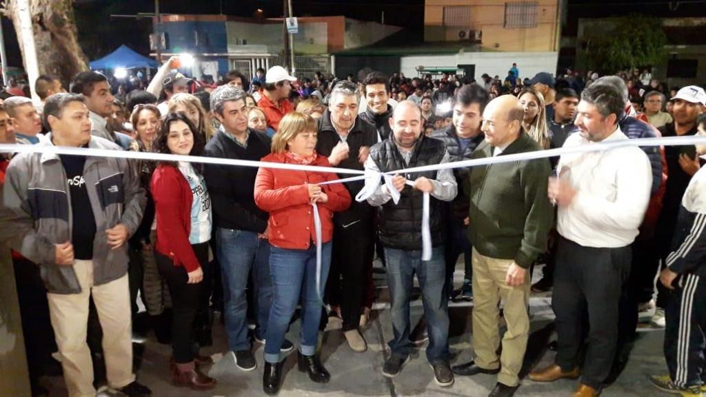 Pablo Mirolo inauguró la Plaza Educativa y Cultural Mauricio Rojas