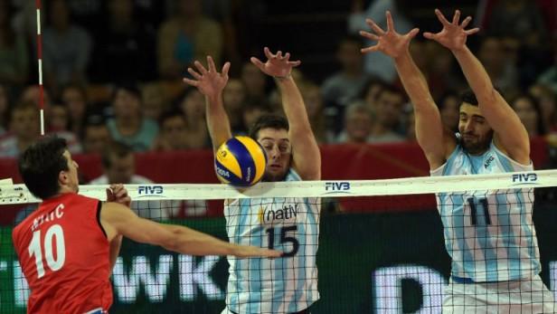 Vóley: Argentina logró un triunfo claro y avanzó a segunda fase