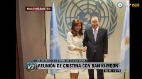 La Presidente se reúne con Ban Ki-moon en Nueva York