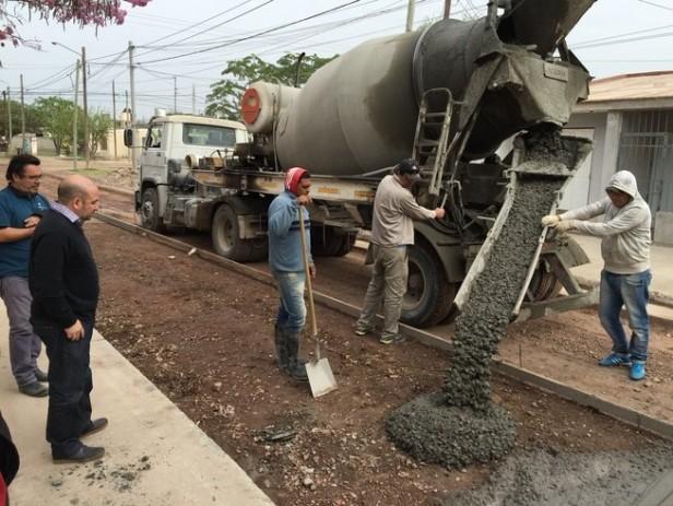 El municipio bandeño continúa con las importantes obras de pavimentación