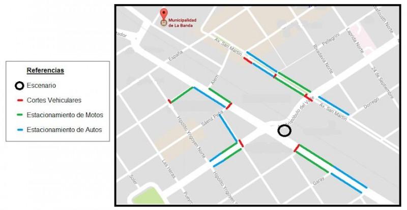 La comuna informa los cortes de calles por los festejos de un nuevo aniversario de la ciudad