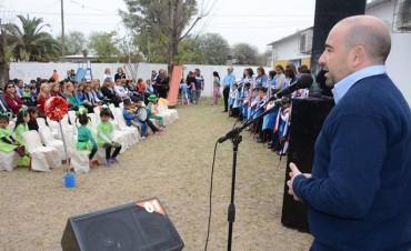 El intendente Mirolo compartió el acto por las Bodas de Plata del Jardín Municipal Nº 14 del barrio Sarmiento