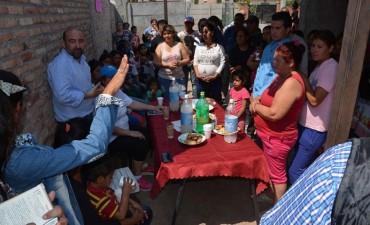 El intendente Mirolo celebró la creación de un comedor municipal en el barrio 25 de Mayo 100 Viviendas