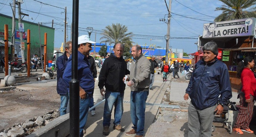 Avanza la obra de la semipeatonalización de la calle Pellegrini
