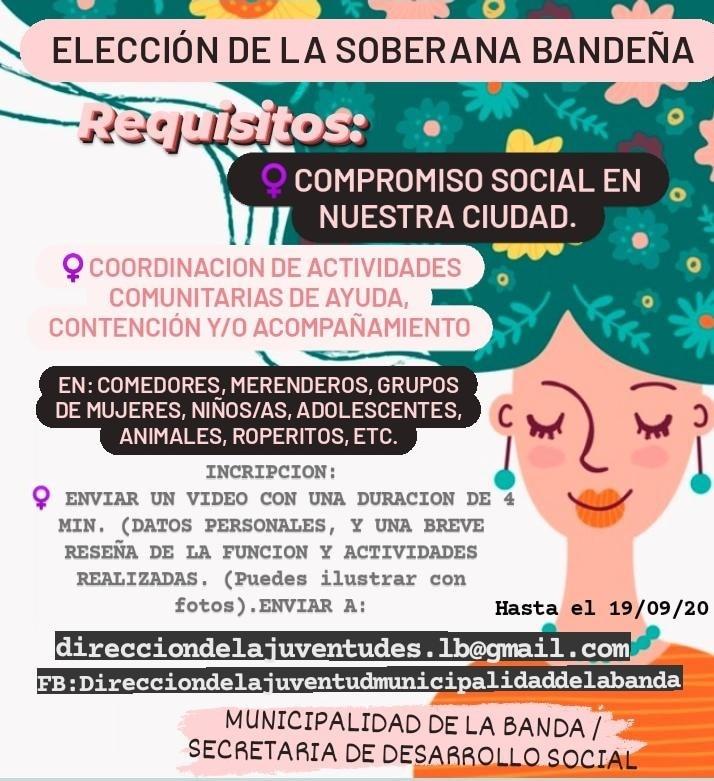 La elección de la reina de La Banda se hará de forma virtual y con un criterio más social e integrador