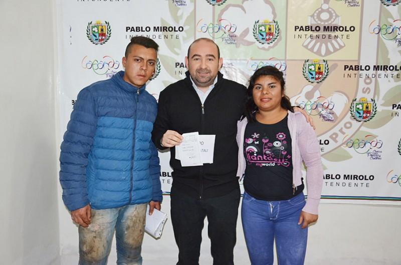 El municipio asistió familias de escasos recursos