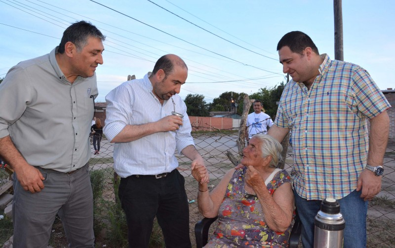 Pablo Mirolo recibió un fuerte respaldo popular en Frías