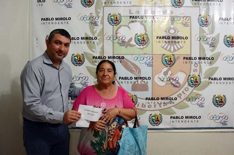 El municipio entregó materiales de construcción a familias de escasos recursos