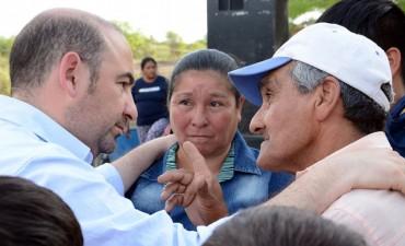 Mirolo visitó La Tijera y renovó su compromiso para trabajar por toda la provincia