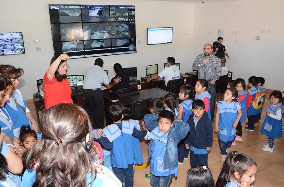 Jardines municipales participaron de una muestra en el Día de la Educación Vial