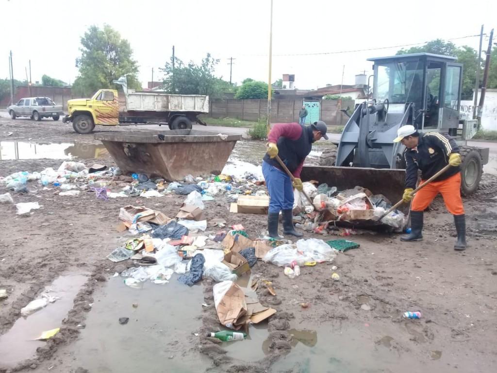 El municipio reforzó la limpieza en los barrios por las lluvias
