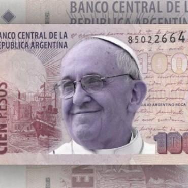 Proponen emitir billetes con la imagen del Papa Francisco