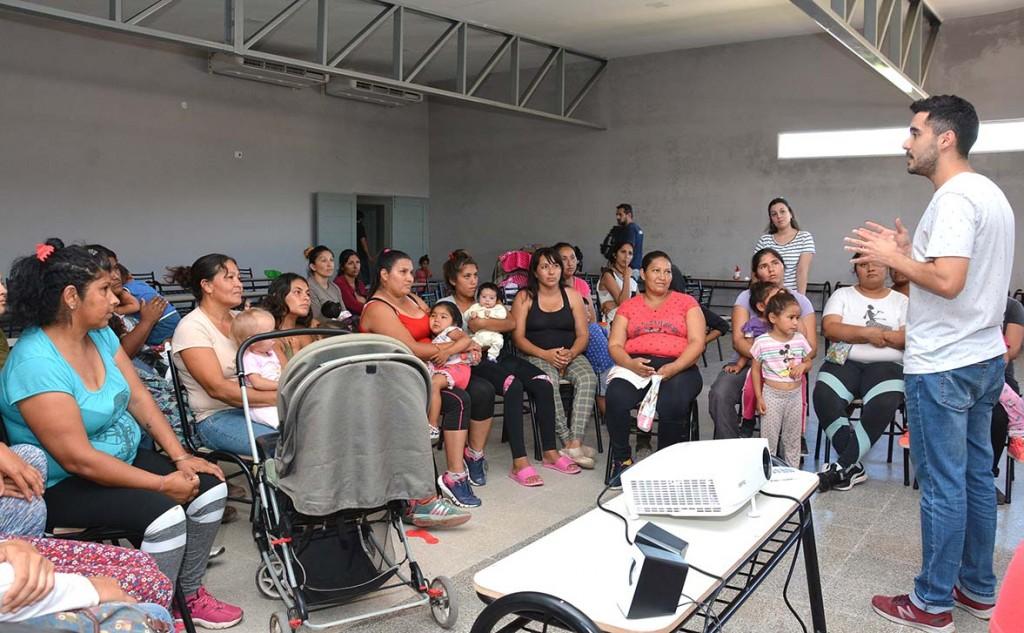 Haciendo Camino y el municipio bandeño lanzaron el Programa Nutrición en el barrio Avenida