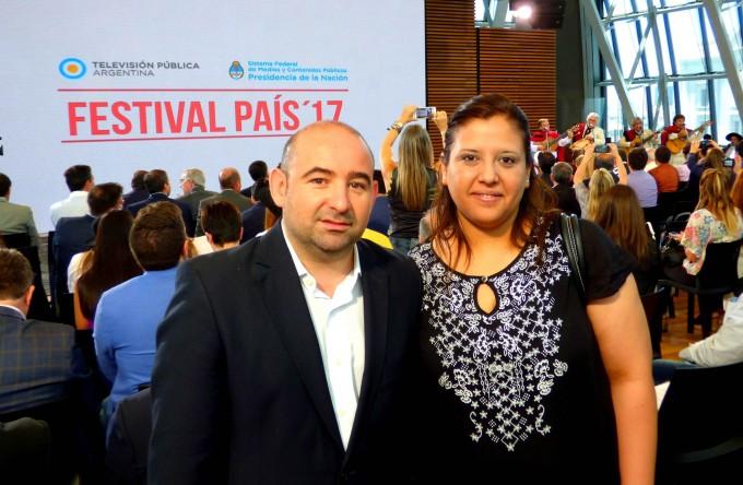 Mirolo participó del lanzamiento del Festival País 17 que trasmitirá La Salamanca por la Televisión Pública