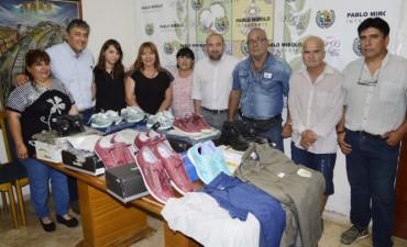 Mirolo entregó uniformes y herramientas al personal de Servicios Públicos