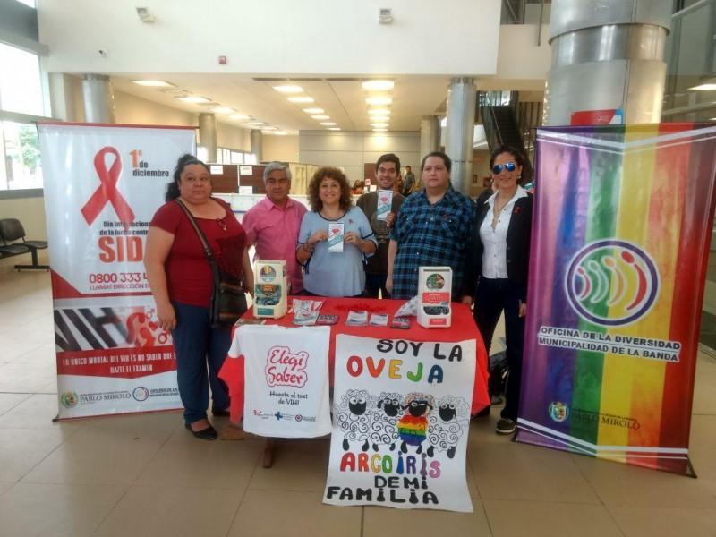La lucha contra el Sida movilizó a diferentes áreas municipales para generar conciencia en la población