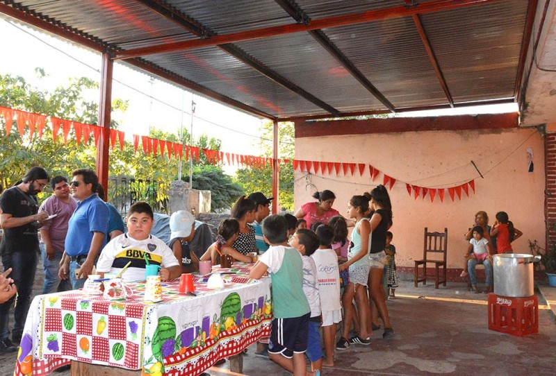 La comuna inauguró el tinglado del comedor y merendero del barrio 17 de Octubre