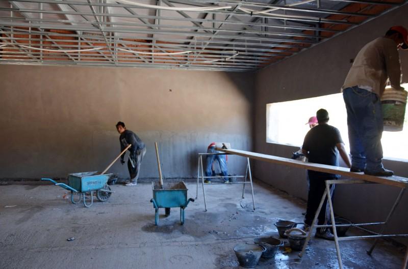 Mirolo anunció la pronta finalización de la obra de construcción de la Escuela Primaria Municipal