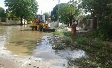 Asistencia, desagote de calles, poda y limpieza fueron las tareas que desarrolló el comité de emergencia durante todo el día