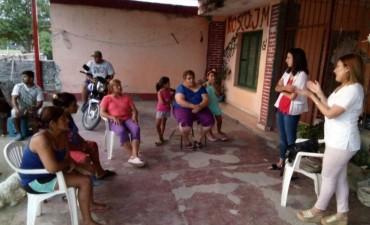 "Se brindó una charla sobre ""Alimentación infantil"" en el Bº 17 de octubre"