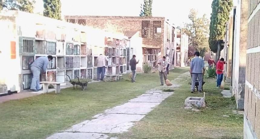 El municipio extendió las tareas de limpieza al Cementerio La Misericordia