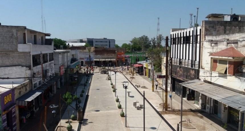 La obra de remodelación de la semipeatonal Sarmiento entró en su última etapa